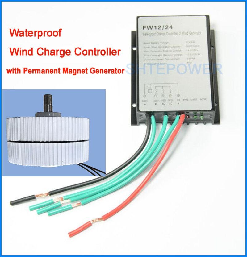 300W 750r/m 12V or 24V Permanent Magnet Generator with 12V/24V wind charger controller for DIY