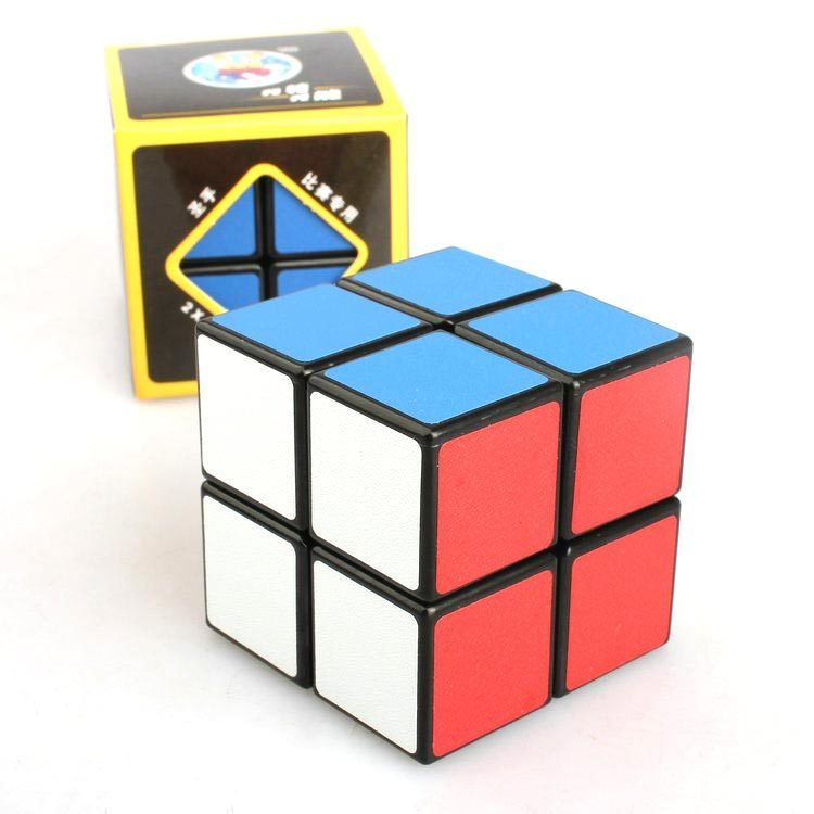 Cube 2*2*2 Classic Magic Toy PVC Sticker Block Puzzle Speed Cube Kids Toys Rubiks Cube Magic Fidget Cubes For Children K2825