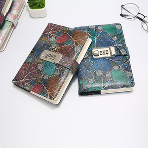 Image 4 - New A5 Leather Diary Notebook with Lock code 140 sheets paper notepad note book  Office school supplies Gift