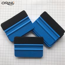 2 sztuk 3 M niebieski czuł ściągaczki folia winylowa do owijania narzędzia tkaniny skrobak barwienia narzędzia okno szkła Wash narzędzia Auto do czyszczenia samochodu narzędzia tanie tanio ORIDECO 7 3cmx10cm Blue Z tworzywa sztucznego