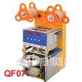 QF07 220В/110В Цифровая автоматическая машина для запечатывания чашек для чая  для питья из нержавеющей стали