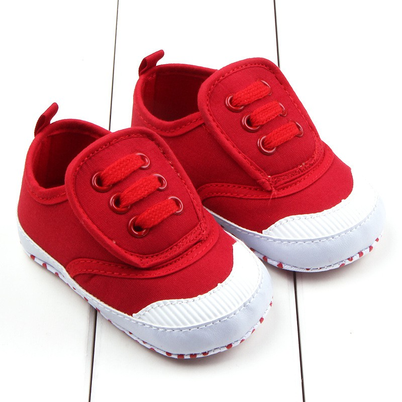 Newborm Baby Boy Girl First Walkers Shoes Leisure Solid Baby Canvas Shoes Thick Bottom Casual Kids Toddler Shoes