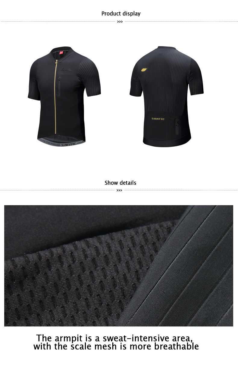 2018 SANTIC Cycling Jersey Men Bike Short Sleeve Maillot Ciclismo MTB Bycicle Clothing Men's Downhill Cycling Top Tops Jersey (9)