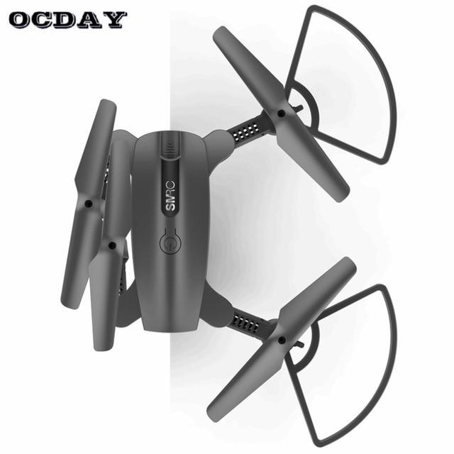 SMRC S6 RC Foldable Mini Headless Mode drone quadcopter aircraft with 720P WIFI HD camera LED Light Altitude Hold ti