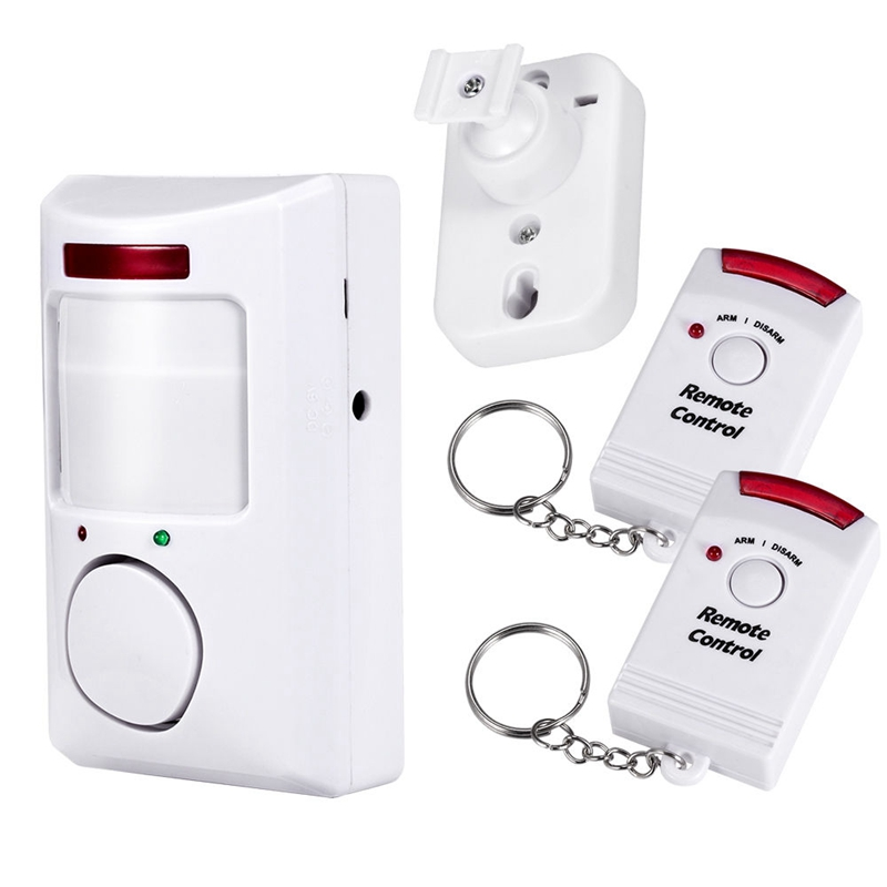 Wireless Battery PIR Infrared Motion Sensor Detector With 2pcs Remote Controller Anti-Theft For Home Alarm Security System home alarm security system wireless pir infrared motion sensor detector with 2pcs remote controllers door window anti theft