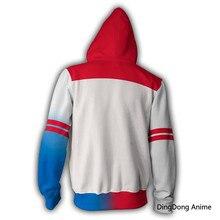 DC suicidio escuadrón 3D sudaderas Joker Harley Quinn de moda hip hop Casual sudaderas chaqueta cosplay ropa de los hombres abrigo