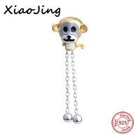 Saling quente Macaco charme Original animal Pingente beads 925 Grânulos de Prata Caber Pandora Autêntica Pulseiras Jóias Fazer Presentes