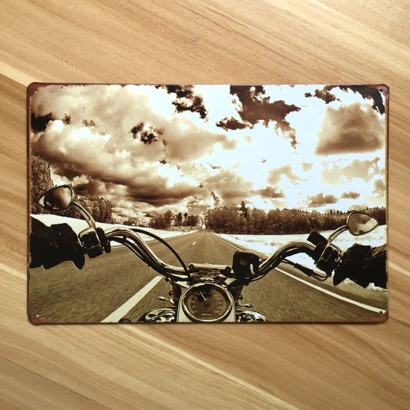 new 2015 vintage home decor motorcycle   UA-0049 metal Tin signs for bar vintage decorative plates metal poster 20x30cm