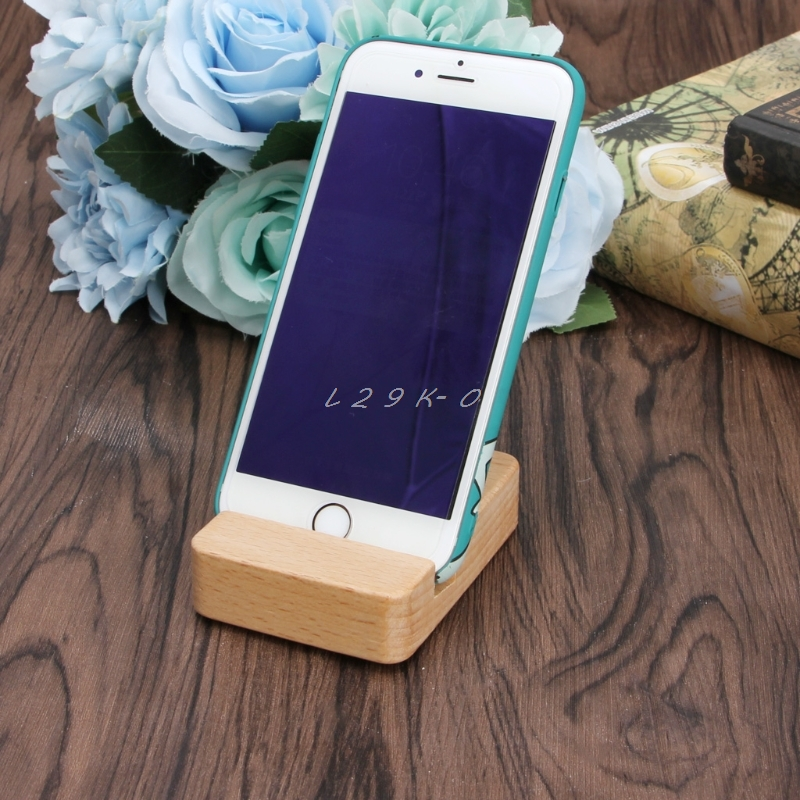 Mobile Phone Accessories Portable Desk Cell Phone Wood Stand Holder Dock For Smartphone For Iphone Mini