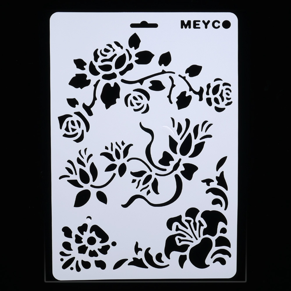 DIY Craft Rose Flowers Layering Stencils For Walls Painting Scrapbooking Stamping Stamps Album Decorative Embossing Paper Cards