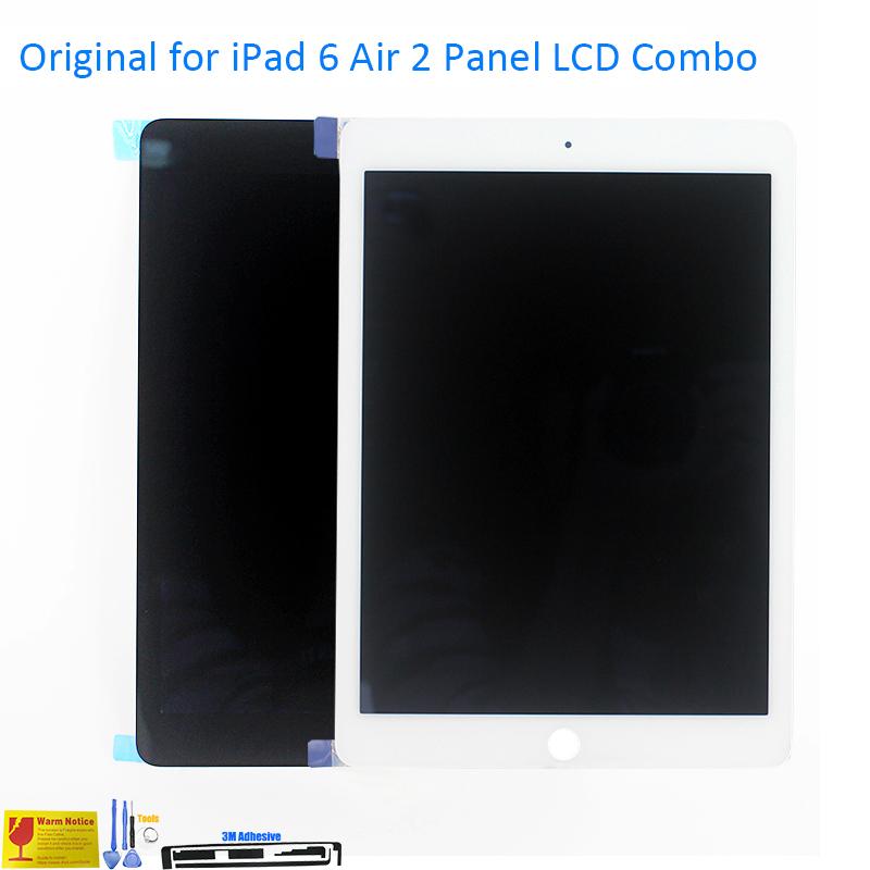 Prix pour ALANGDUO Original pour iPad 6 Air 2 A1567 A1566 Apple Écran lcd avec Écran Tactile Digitizer Verre de Remplacement Du Panneau Avant lentille