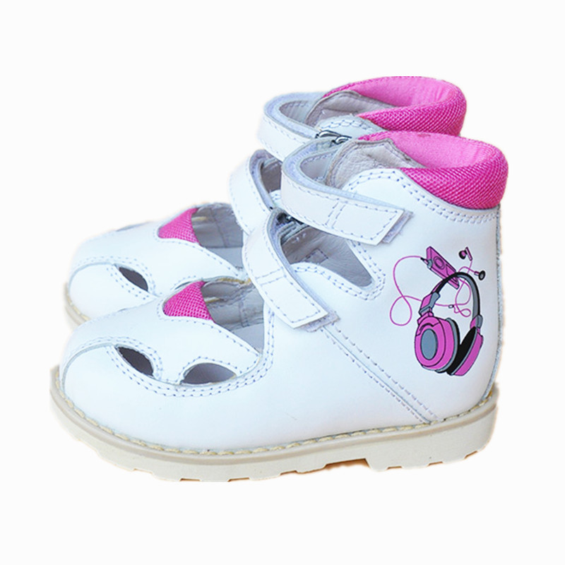Fashion 1pair Girl Genuine Leather Orthopedic Shoes , Super quality Summer Children Kid Shoes good quality 1pair orthopedic shoes girl genuine leather shoes inner 15 19cm children sneakers sports