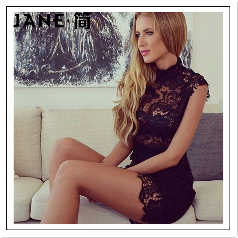 4791fb580cde Jane Super Sexy Lace Hollow Out Short Tight Solid Color Club Party Hot Girl  Dress 2015 Fashion Brand Sexy Sleeveless Women Cloth-in Dresses from  Women's ...