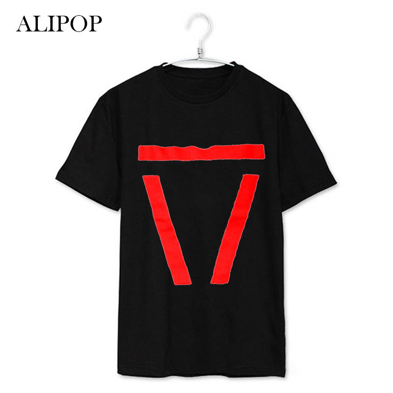 ALIPOP KPOP EXO BAEKHYUN SBS Classic Songs Album Shirts Casual Cotton Clothes Tshirt T Shirt Short
