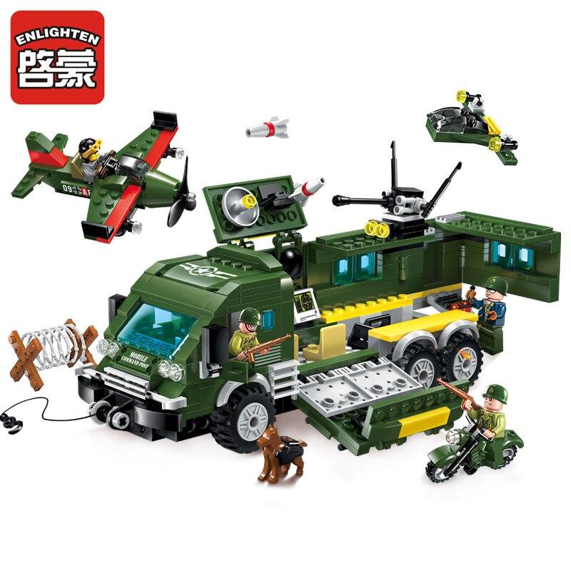 Enlighten serie militar vehículos blindados modelo building block juguetes clási