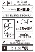 French words Clear Silicone Stamps for DIY Scrapbooking/Card Making/Kids Christmas  Decoration Supplies Popular A838