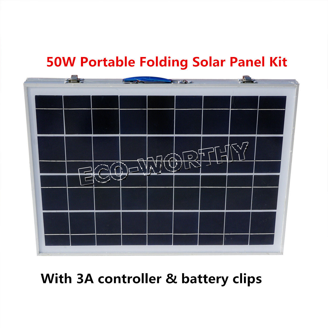 50W 18V Poly Folding Foldable Solar Panel  for  12v battery,  car, RV,camping,boat,free shipping 50w 12v semi flexible monocrystalline silicon solar panel solar battery power generater for battery rv car boat aircraft tourism