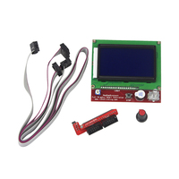 Free Shipping 3D Printer Smart Controller RAMPS 1 4 LCD 12864 Control Panel Blue Screen