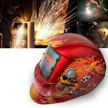 2018 New Pro Solar Welder Mask Auto-Darkening Welding Helmet Pattern fire skull