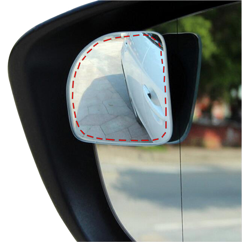 Original 360 grau ajustável sem moldura ultrafino grande angular espelho de ponto cego para estacionamento espelhos retrovisores auxiliares