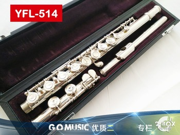 Japan Professional Flute 514 Nickel silver 16 Closed hole C tone Curve With E key instrumentos music professional flauta