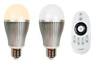1 шт.  радиочастотный LED WW/WC пульт дистанционного управления 2 4 ГГц + 2 шт. 9 Вт 2 4 ГГц WW/CW Светодиодные лампы (Mi-Light)