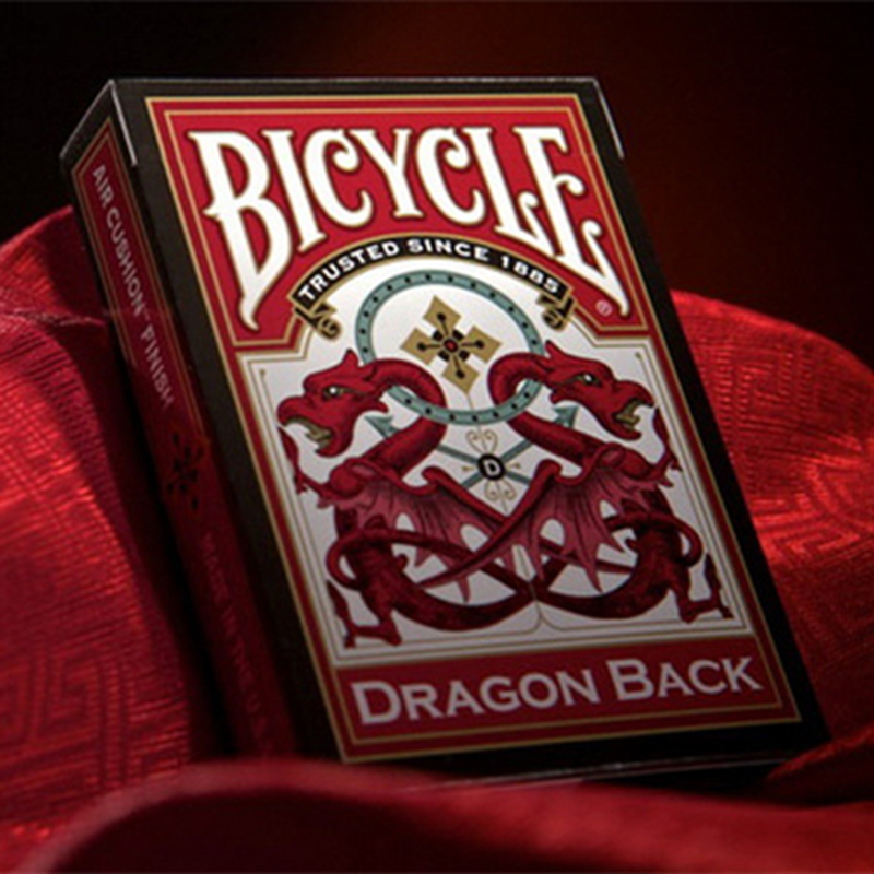 1 Deck Bicycle Dragon Back Red Standard Poker Playing Cards Brand New Deck Magic Tricks Cards Magic Props