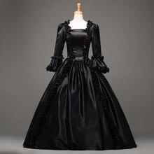 382bb42ece9 Offre spéciale Noir Gothique robe victorienne Période Renaissance Rococo  Belle robes de bal Theatre Vêtements Costume