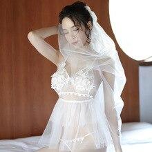 New Porn Women Bobydoll Lingerie Sexy Hot Erotic Wedding Dress Cosplay White Underwear Porno Costumes