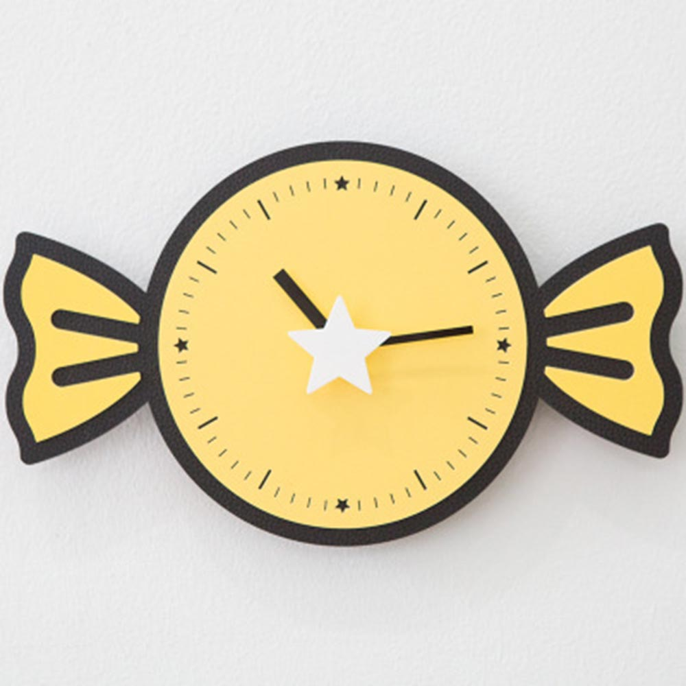 candy cartoon clock living room brief sweet clock children bedroom ...