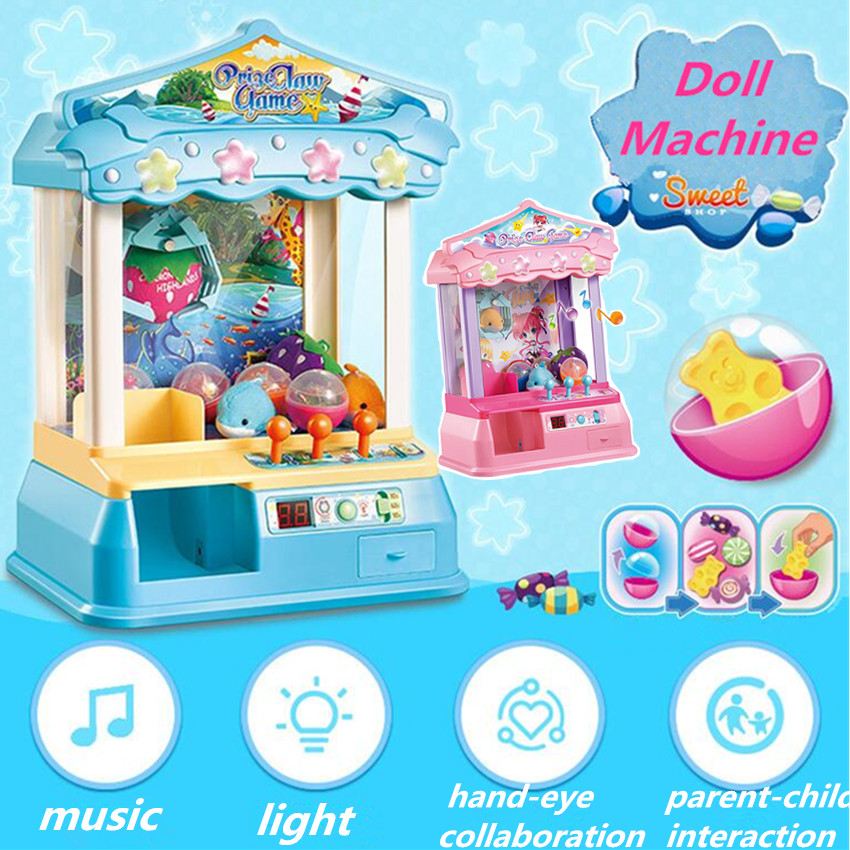 Kids Music Candy Grabber Coin Operated Game Best Gift For Child Gag Toy Toy Grabbing Machine Mini Doll Machine стоимость