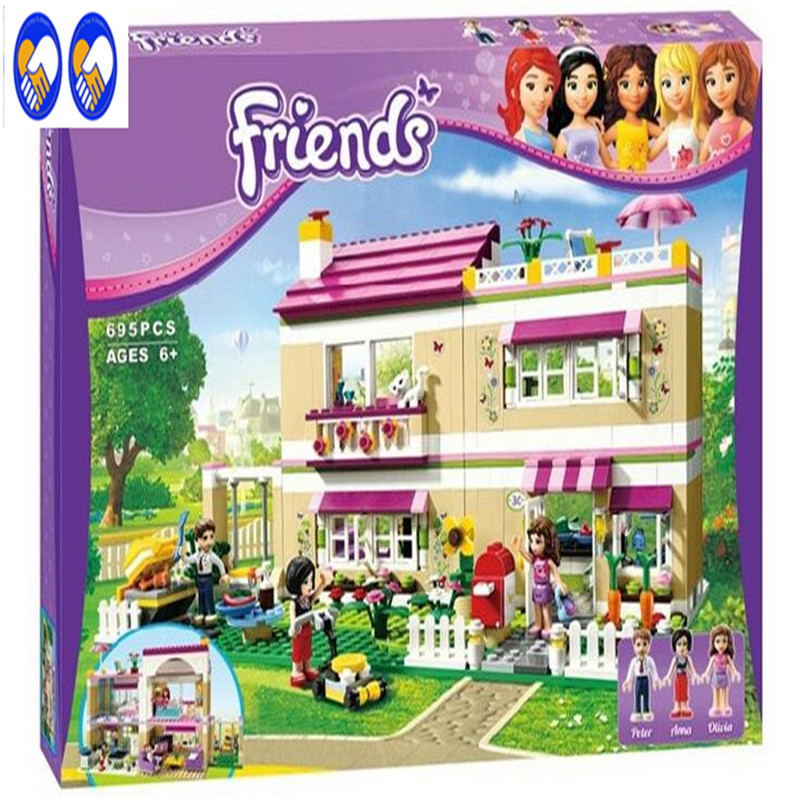 A Toy A Dream Bela 10164 Friends Olivia's House Blocks Bricks Toys Girl Game Castle Gift Compatible with Lepin Sluban  3315 10162 friends city park cafe building blocks bricks toys girl game toys for children house gift compatible with lego gift