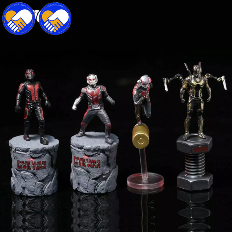A TOY A DREAM Statue 6.5cm Ant-Man Comics Antman Yellow Jacket Model Toys Movie PVC Action Figure Toy Collection Model Doll king arts ffs003 bullet ant man doll static model miniature doll model doll collection