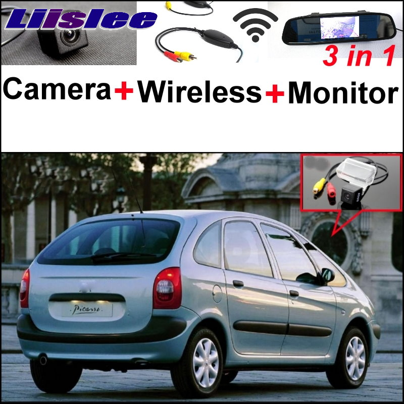Liislee 3in1 Special Rear View Camera + Wireless Receiver + Mirror Monitor Easy DIY Parking System For Citroen Xsara Picasso MPV liislee 3in1 special rear view camera wireless receiver mirror monitor easy parking system for lexus ls430 celsior 2001 2017