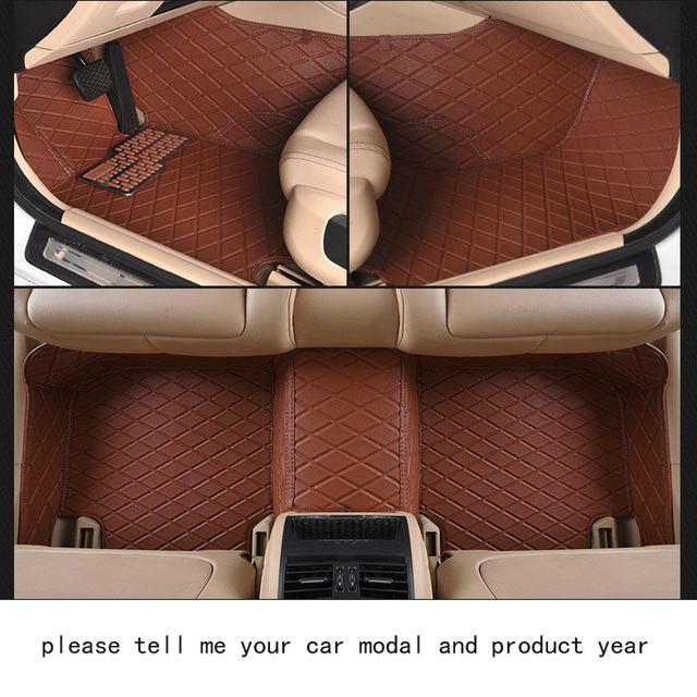 For Vw Volkswagen Polo Brand Soft Luxury Leather Customize Car Floor