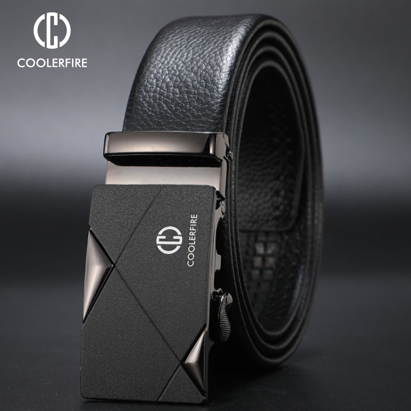 CCOOLERFIRE Men Luxury Brand Genuine Leather Automatic Belt High Quality Designer Belts Business Trousers Male Belts Pu ZD091