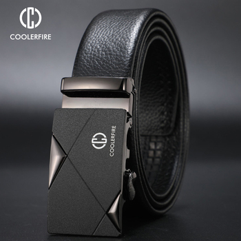 CCOOLERFIRE Men Luxury Brand Genuine Leather Automatic Belt High Quality Designer Belts Business Trousers Male pu ZD091