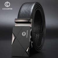 CCOOLERFIRE Men Luxury Brand Genuine Leather Automatic Belt High Quality Designer Belts Business Trousers Male Belts pu ZD091