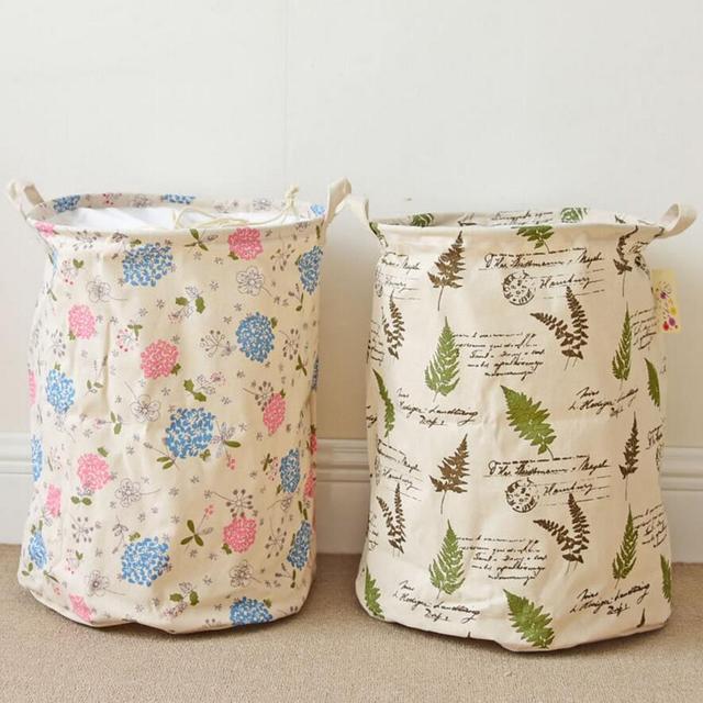 Nuevas flores hoja paño lavandería cesto ropa cestas de ...