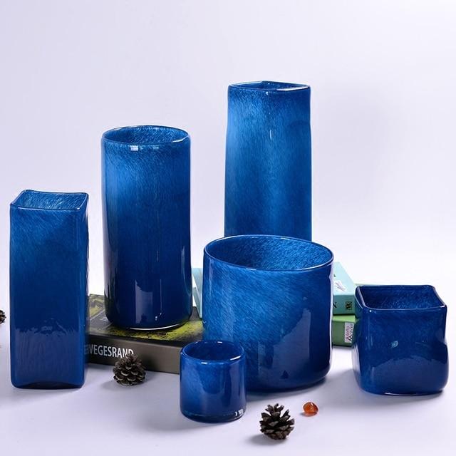 New Modern Glass Vase Flower Pot European Mediterranean Handicrafts