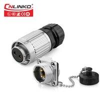 Cnlinko Enchufe macho arnés de cableado IP67 impermeable 500V 20A Cable eléctrico de Metal 2 Pin Conector hembra con cubierta de polvo