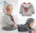 2016 New Cute Dinosaur Hooded Baby Boys Clothes Long sleeve Hoodie Tops Outerwear Sport Suit For Children Kids Hoodies