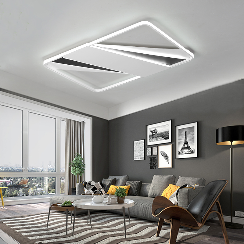 modern LED chandelier light For living room simple atmosphere home creative personality new rectangular hall chandelier lamp