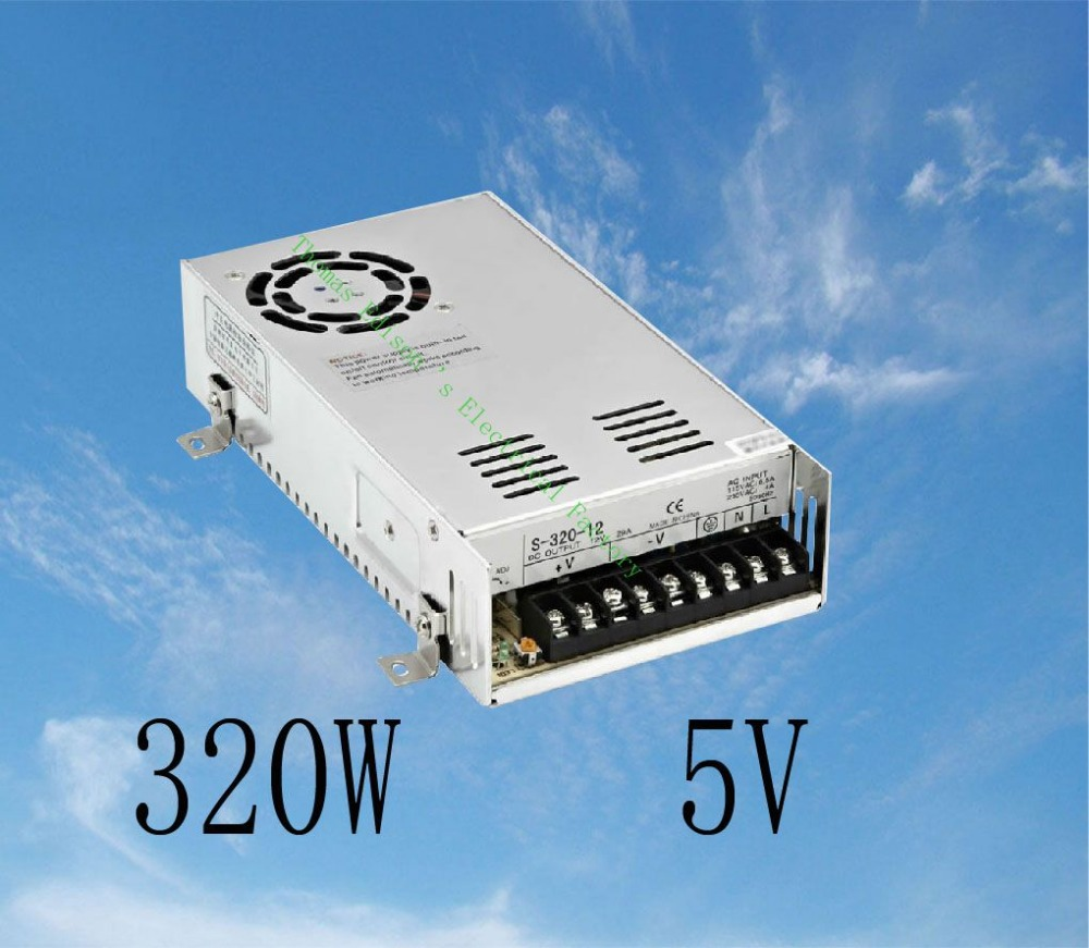 DIANQI led power supply switch 320W  5v  50A ac dc converter  S-320w  5v variable dc voltage regulator S-320-5 dianqi led power supply switch 350w 5v 50a ac dc converter s 350w 5v variable dc voltage regulator s 350 5
