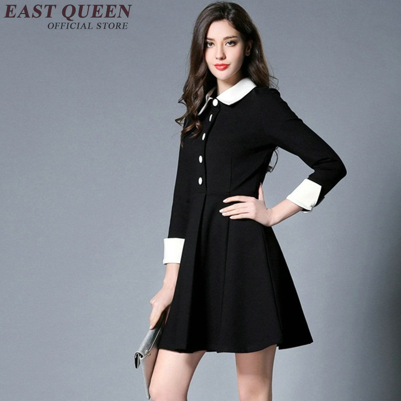 Summer Three Woman Collar Quarter With Black Dress White orBxdCe