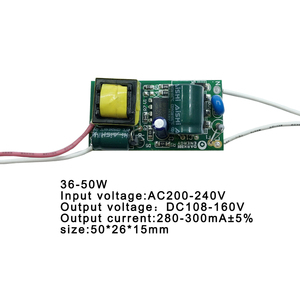 Image 4 - 8 50W LED Lamp Driver Light Transformer Input AC175 265V Power Supply Adapter 280mA 300mA Current for LED Spot light Bulb Chip