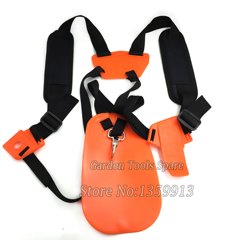 New type Double Shoulder strap Brush Cutter Harness with orange color for all grass trimmer high quality strimmer harness strap double shoulder strap for brush cutter trimmer lawn mower parts gardden tools