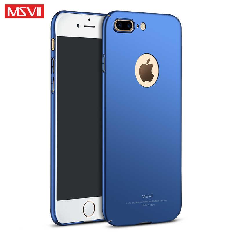 Чехол для iphone 7 Чехол MSVII 360 Роскошный чехол для Apple iphone 8 Plus Тонкий Жесткий ПК чехол для iphone 7 Plus чехлы для телефонов