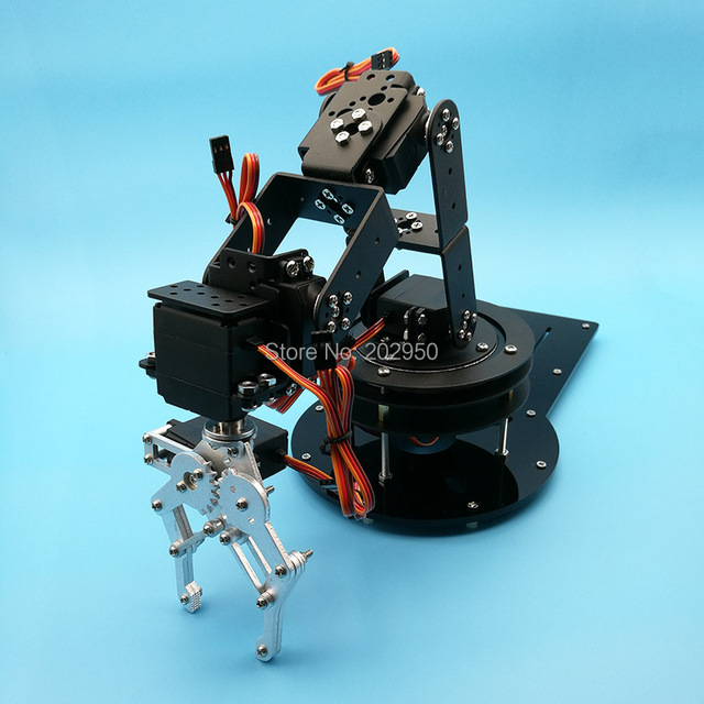 Metal Alloy 6 DOF Robot Arm Clamp Claw & Swivel Stand Mount Kit With ...