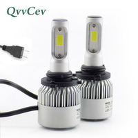QvvCev H7 H4 LED Lamp Car Headlight 72W 8000LM 6500K Automobiles Bulbs Auto Fog Lights Car